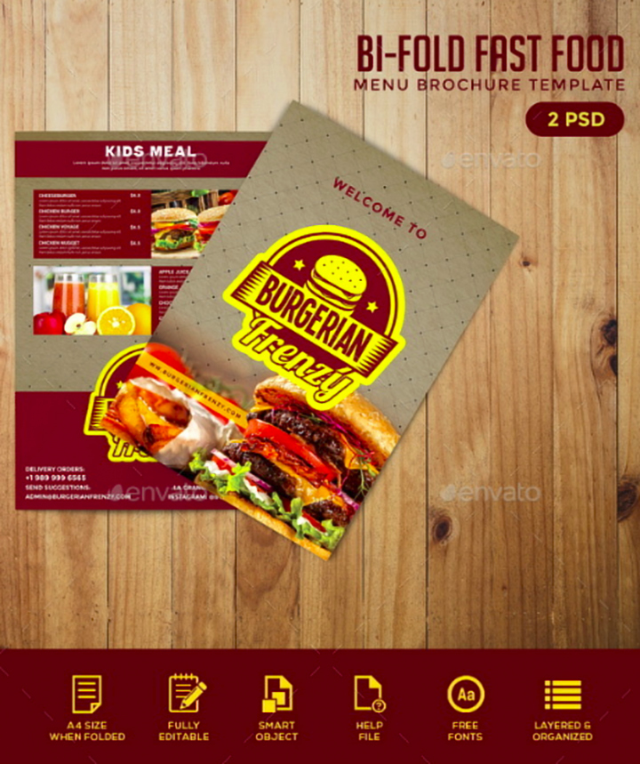 Bi Fold Menu Template Best Of 14 Restaurant Bi Fold Brochure Templates
