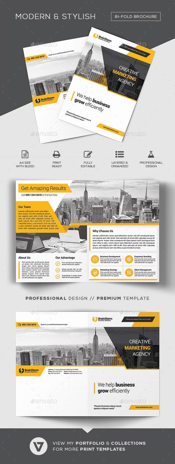 Bi Fold Menu Template Best Of Bi Fold Brochure Template by Verazo