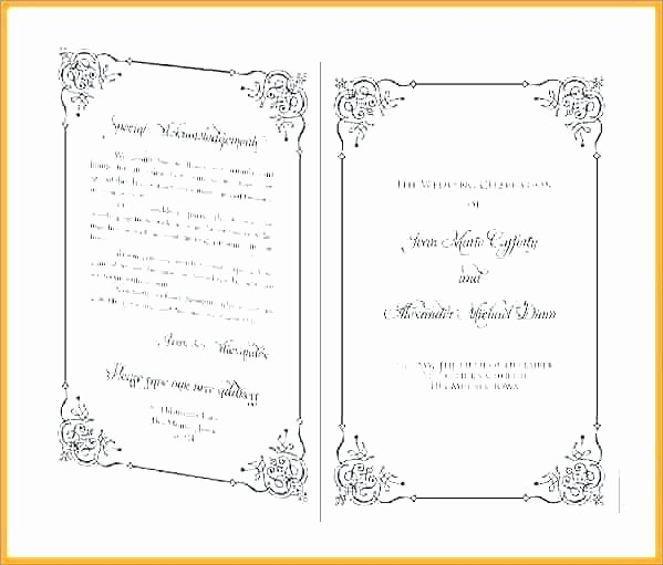 Bi Fold Menu Template Best Of Free Bi Fold Wedding Program Template Pastor Anniversary