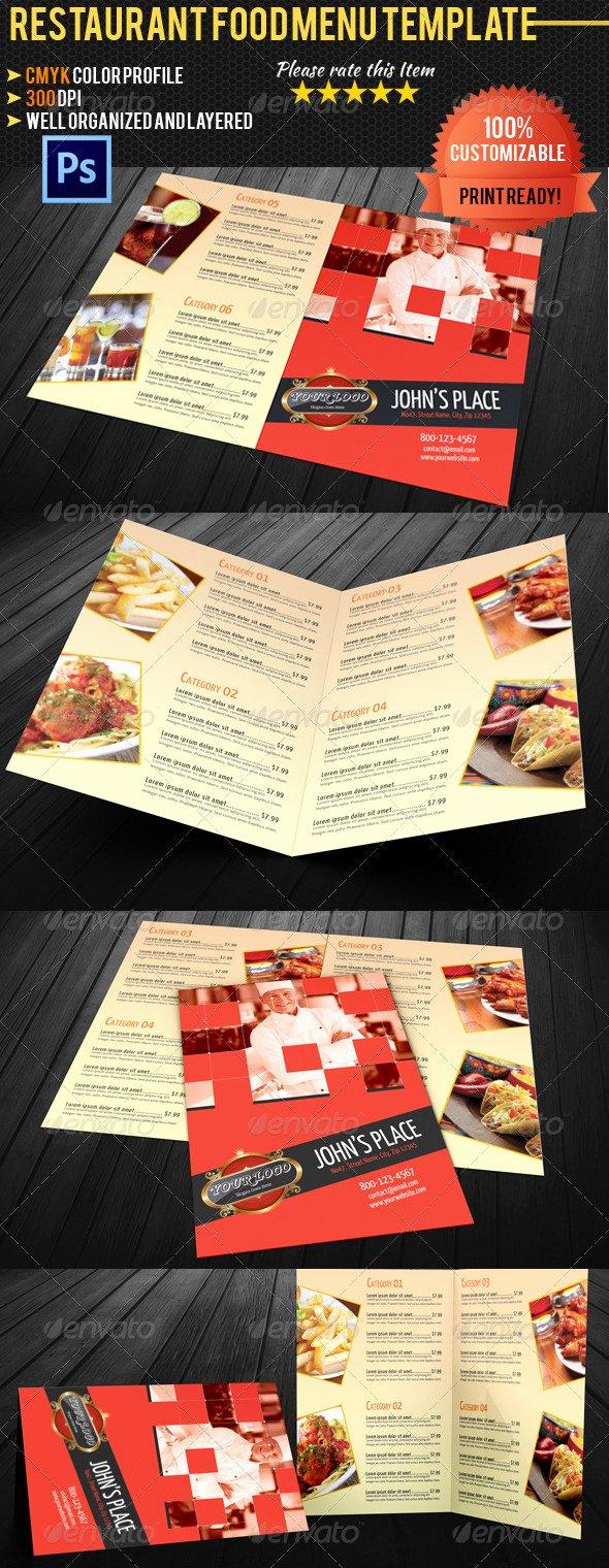 Bi Fold Menu Template Elegant Bi Fold Restaurant Food Menu Template 02 by Ruthgschultz