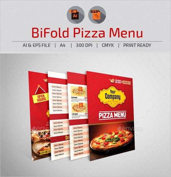 Bi Fold Menu Template Elegant Pizza Menu Templates – 31 Free Psd Eps Documents