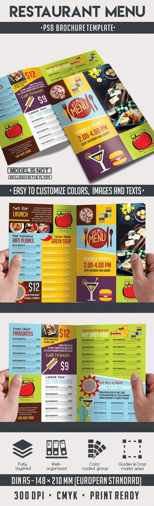 Bi Fold Menu Template Fresh Restaurant Menu Bi Fold Psd Brochure Template Downturk