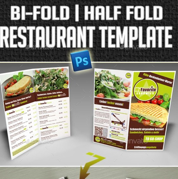 Bi Fold Menu Template Inspirational 20 Cool Restaurant Brochure Templates