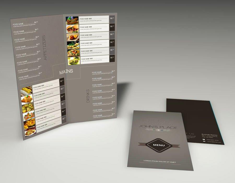 Bi Fold Menu Template Inspirational Bi Fold Food Menu Template Brochure Templates On