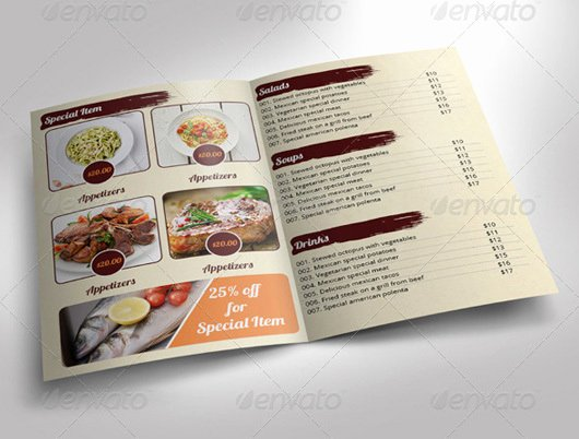 Bi Fold Menu Template Inspirational Bi Fold Menu Template Free Templates Resume Examples