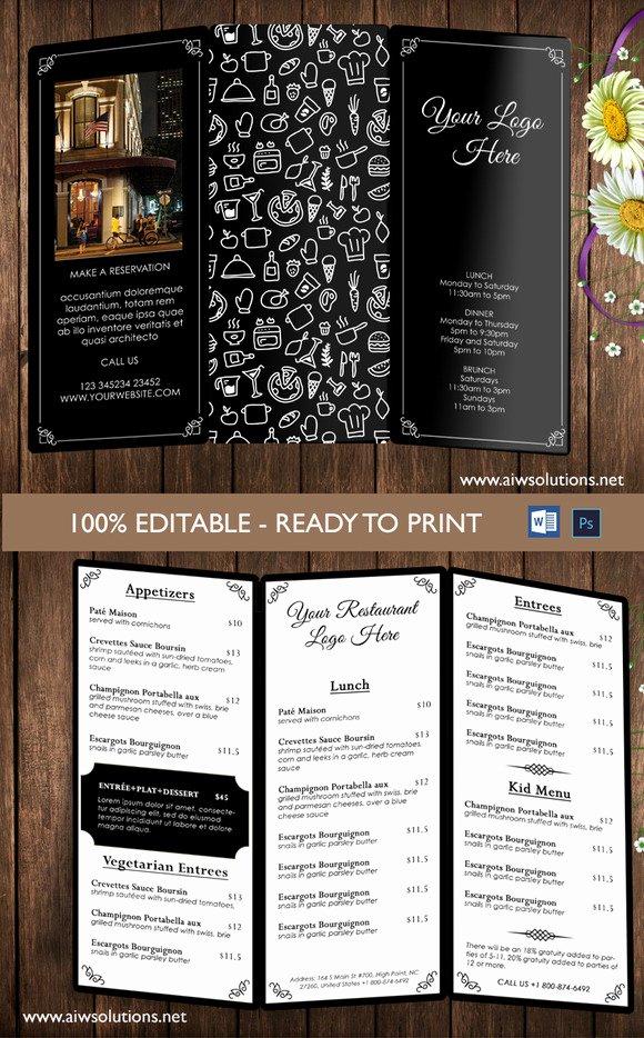Bi Fold Menu Template Lovely Free Bi Fold Menu Templates Designtube Creative Design