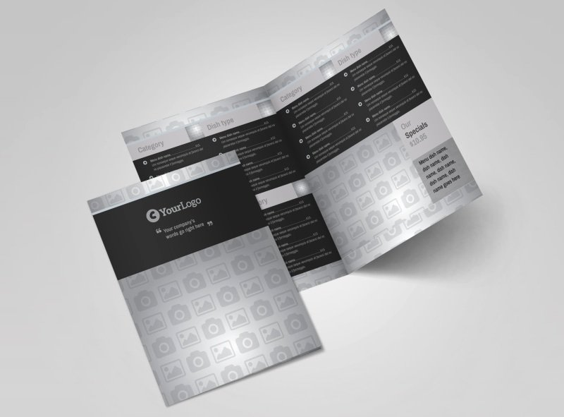 Bi Fold Menu Template Luxury Delicious Pizza Menu Bi Fold Brochure Template