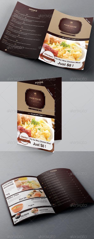 Bi Fold Menu Template Luxury Food Menu & Bi Fold Brochure Template