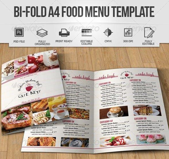 Bi Fold Menu Template Luxury Free and Premium Food and Restaurant Menu Brochure
