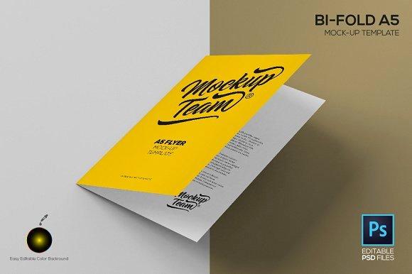 Bi Fold Menu Template New Bi Fold A5 Mockup Template
