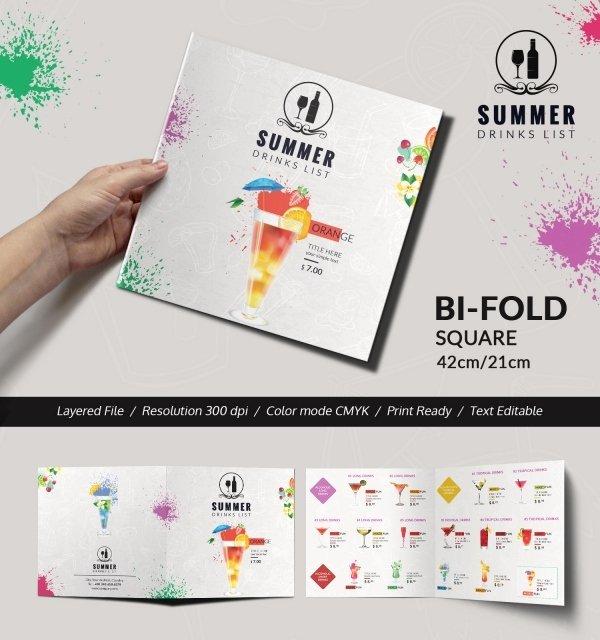 Bi Fold Menu Template New Cocktail Menu Template – 45 Free Psd Eps Documents