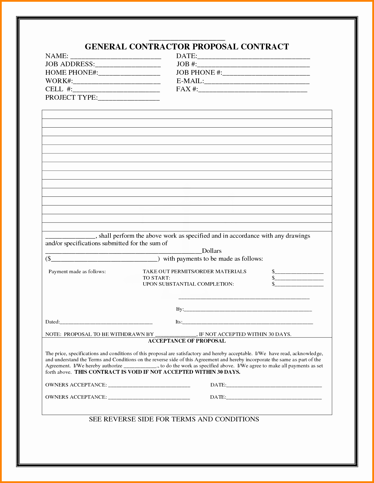 Bid Template for Contractors Awesome Bid Proposal Template Word Mughals