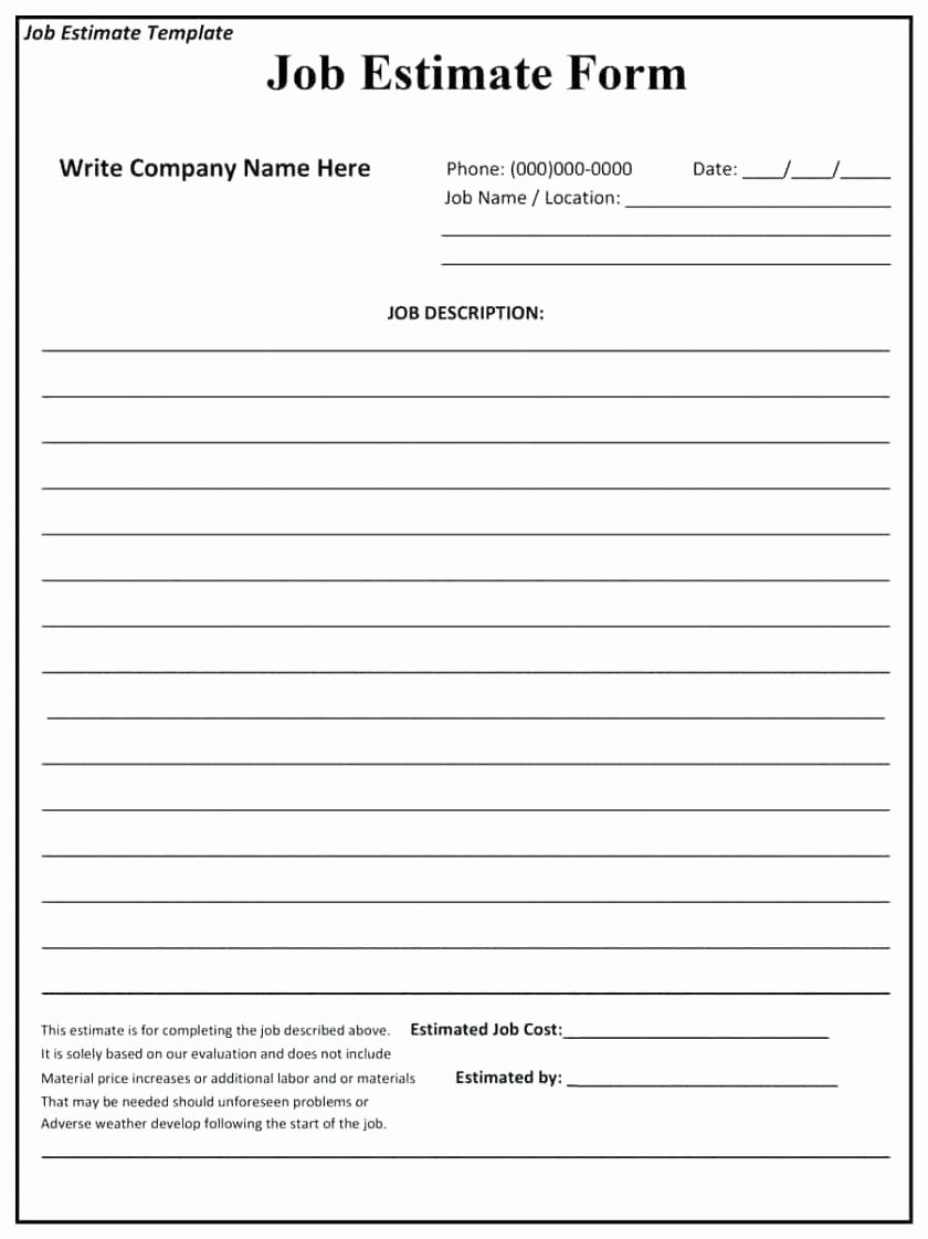 Bid Template for Contractors Awesome Template Sample Quotation Template