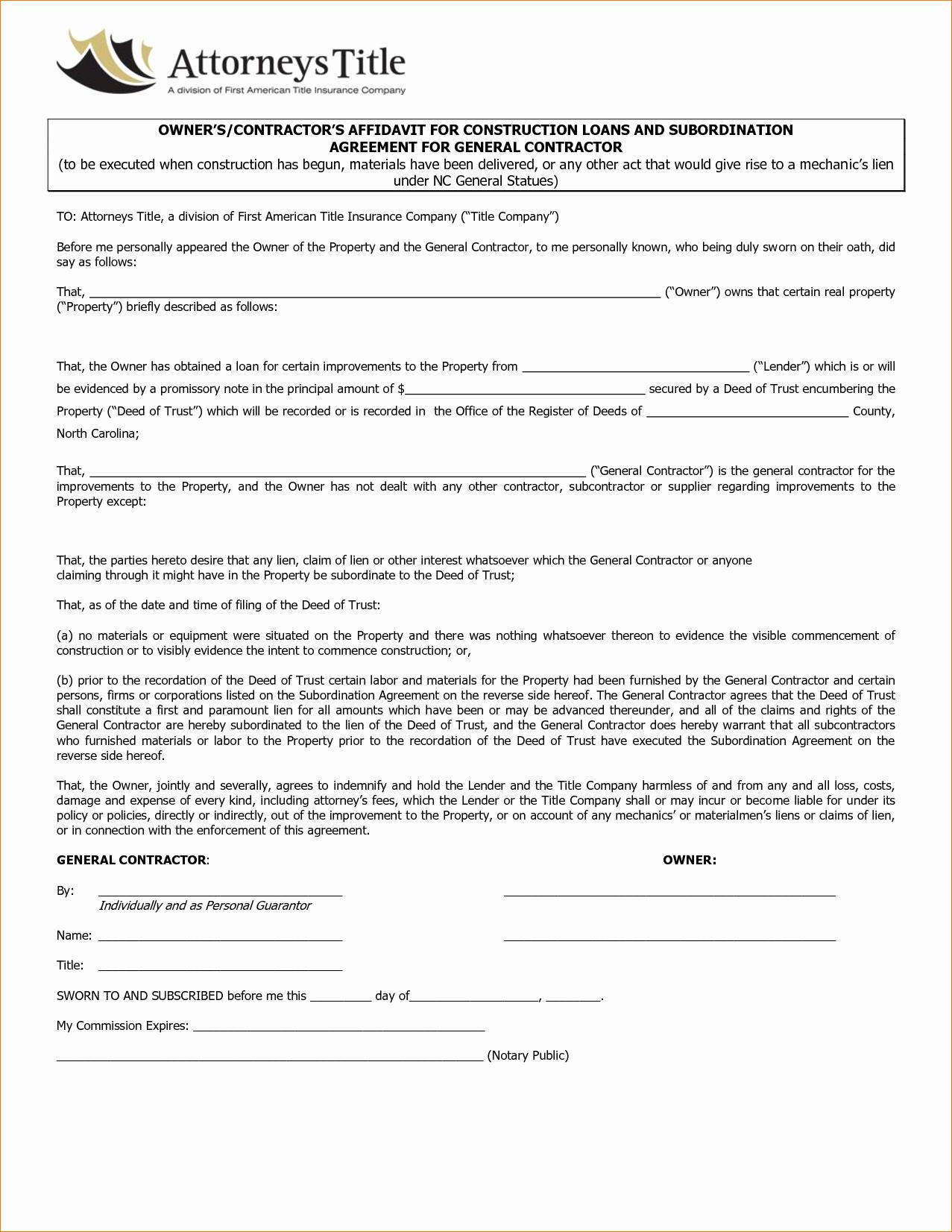 Bid Template for Contractors Beautiful Contractor Agreement Template Featuring General Contractor