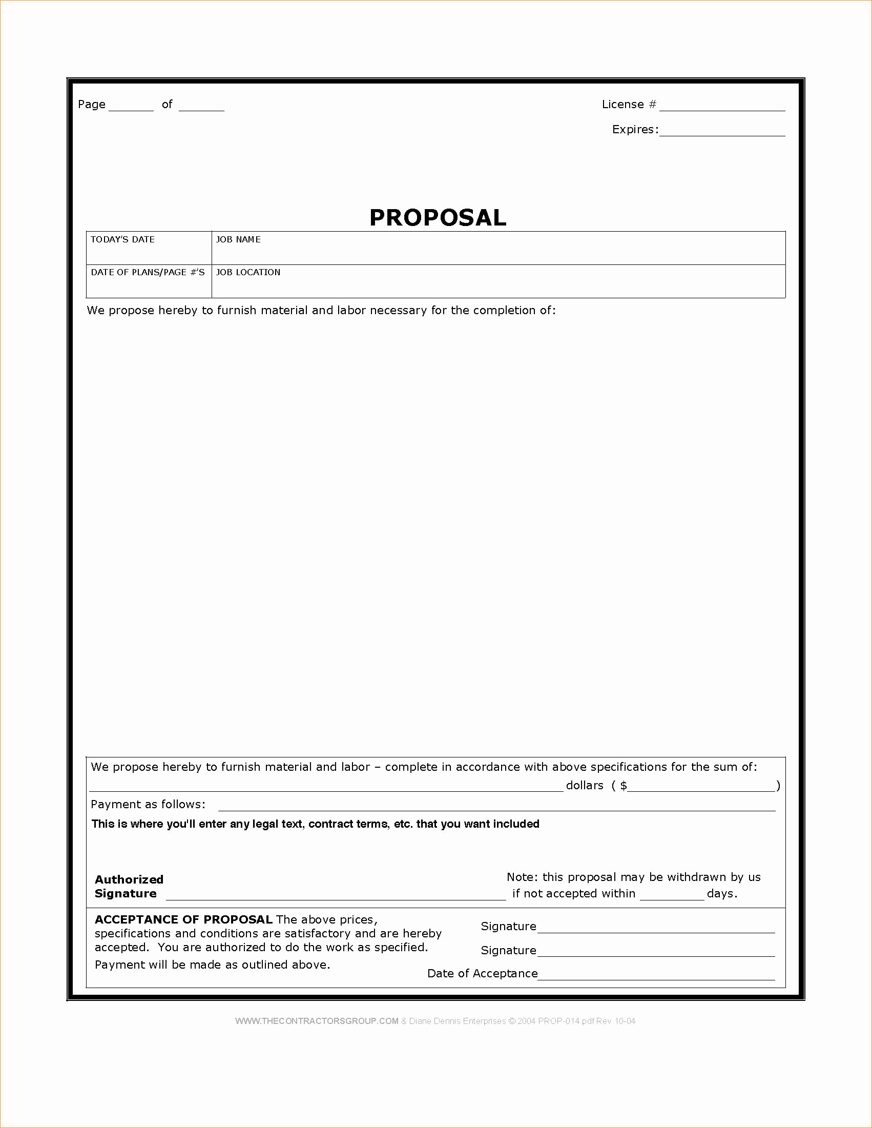 Bid Template for Contractors Inspirational Construction Proposal Template Word Business Proposal