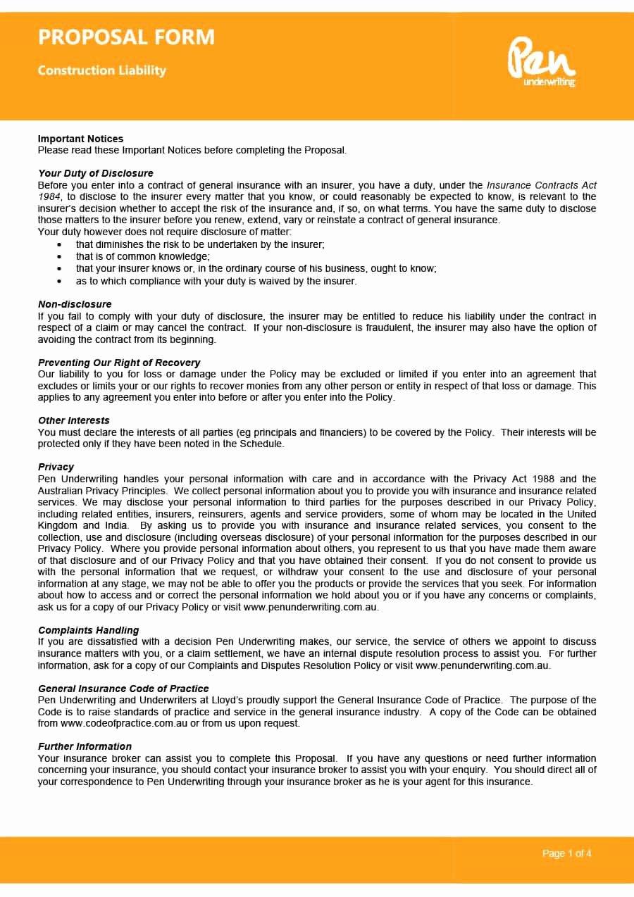 Bid Template for Contractors New 31 Construction Proposal Template & Construction Bid forms