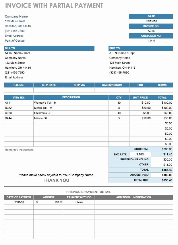 Bill Payment Template Free Best Of 12 Free Payment Templates