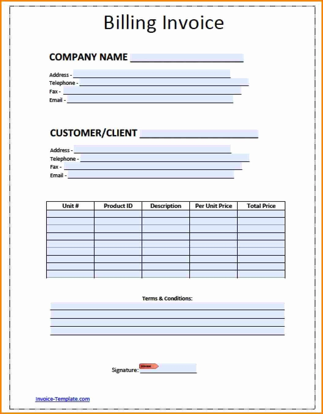 Billing Invoice Template Free Fresh Billing Sheet Template Invoice Design Inspiration