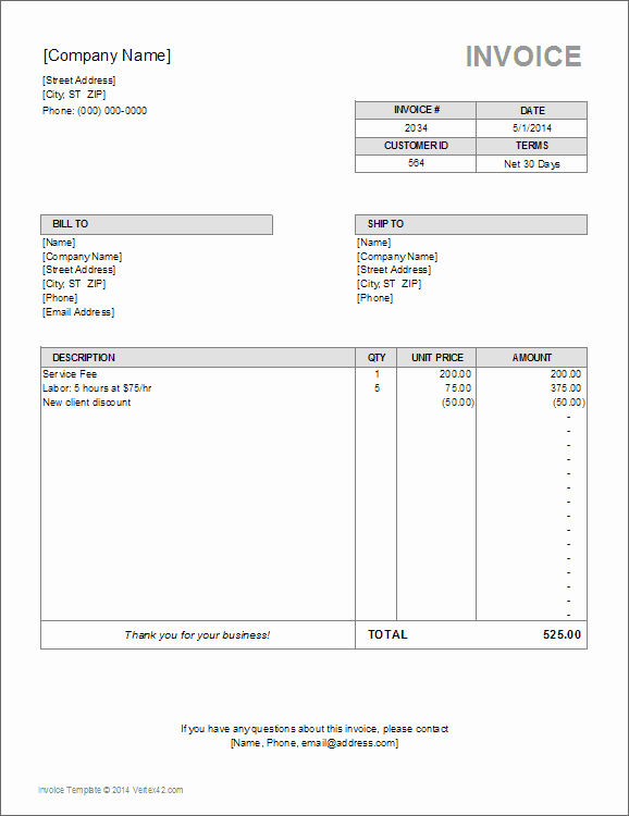 Billing Invoice Template Free Inspirational 10 Simple Invoice Templates Every Freelancer Should Use