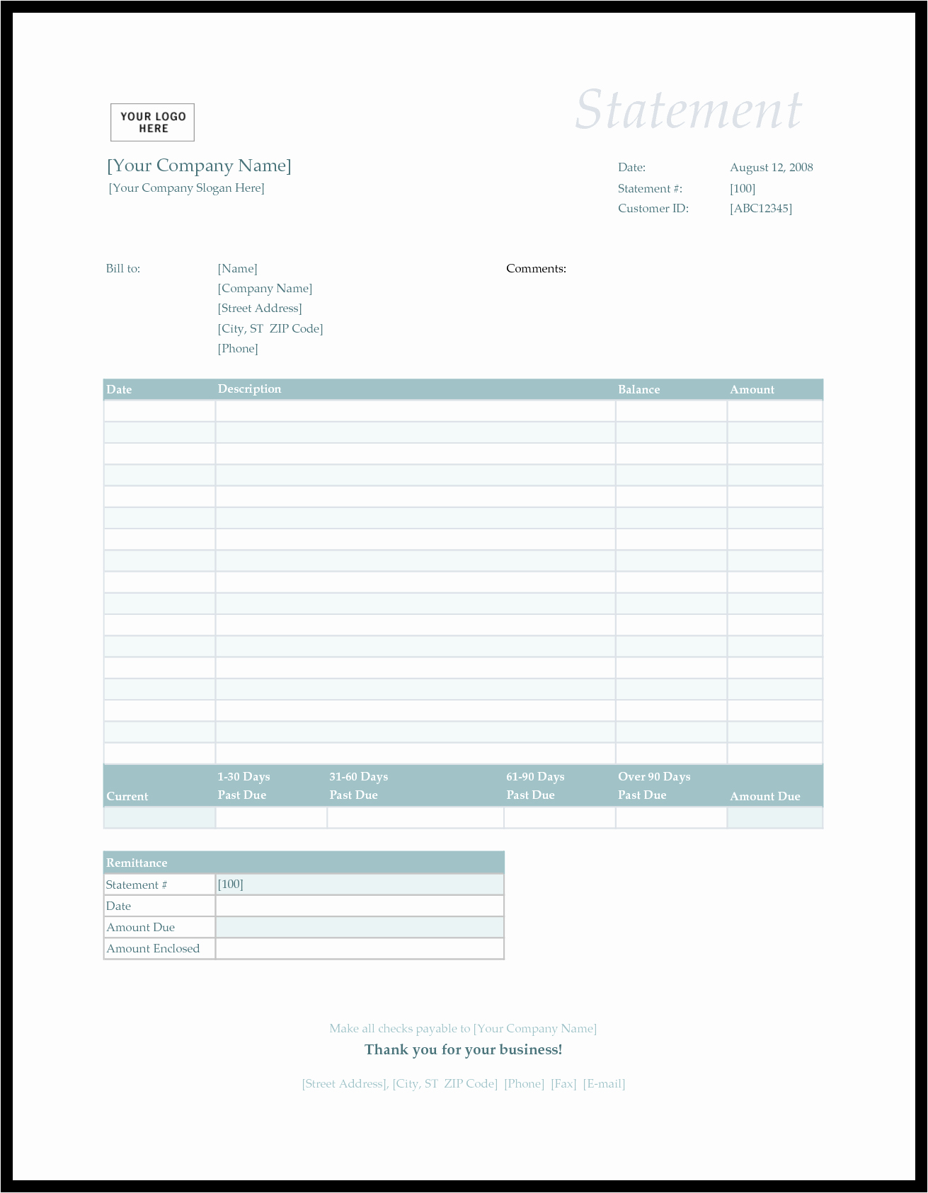 Billing Invoice Template Free Inspirational Bill Statement Template Mughals