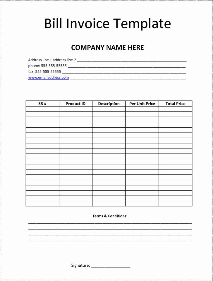 Billing Invoice Template Free Luxury Billing Invoice Template