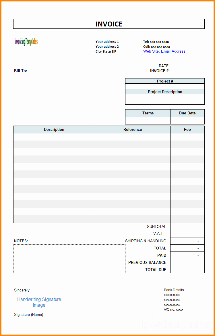Billing Invoice Template Free Luxury Billing Statement Template Free Invoice Design Inspiration