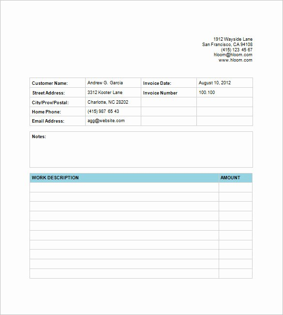 Billing Invoice Template Free Luxury Business Invoice Template – 6 Free Sample Example