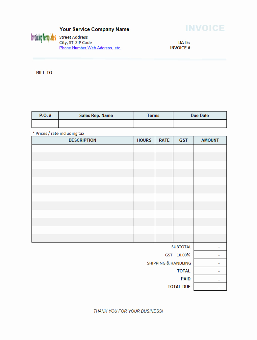 Billing Invoice Template Free Unique Billing Statement Template Free 9 Results Found