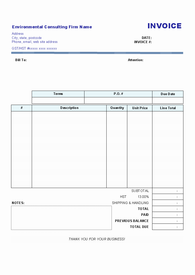 Billing Invoice Template Free Unique Blank Invoices Invoice Design Inspiration