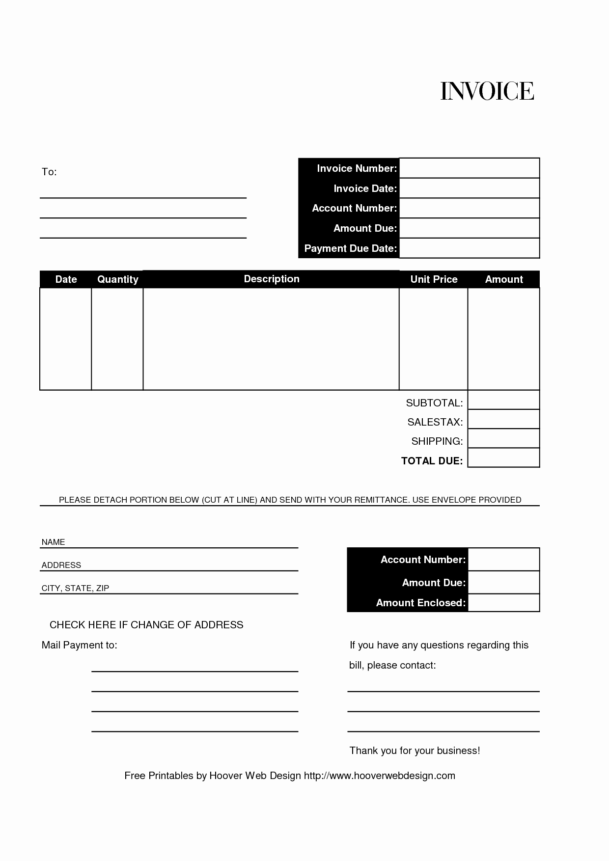 Billing Invoice Template Free Unique Free Editable and Printable Billing Invoice Template
