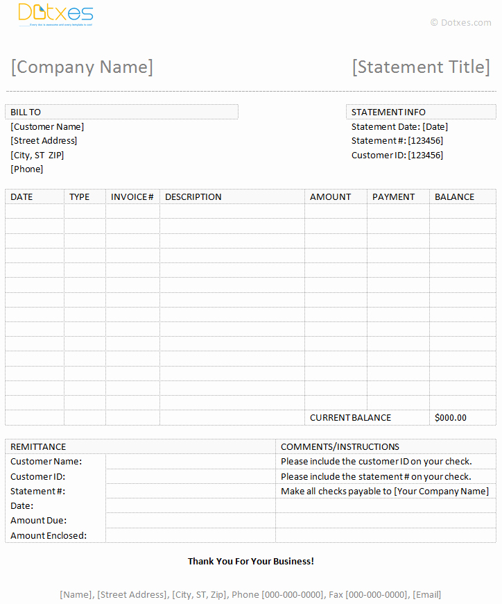 Billing Invoice Template Word Awesome Billing Statement Template Dotxes
