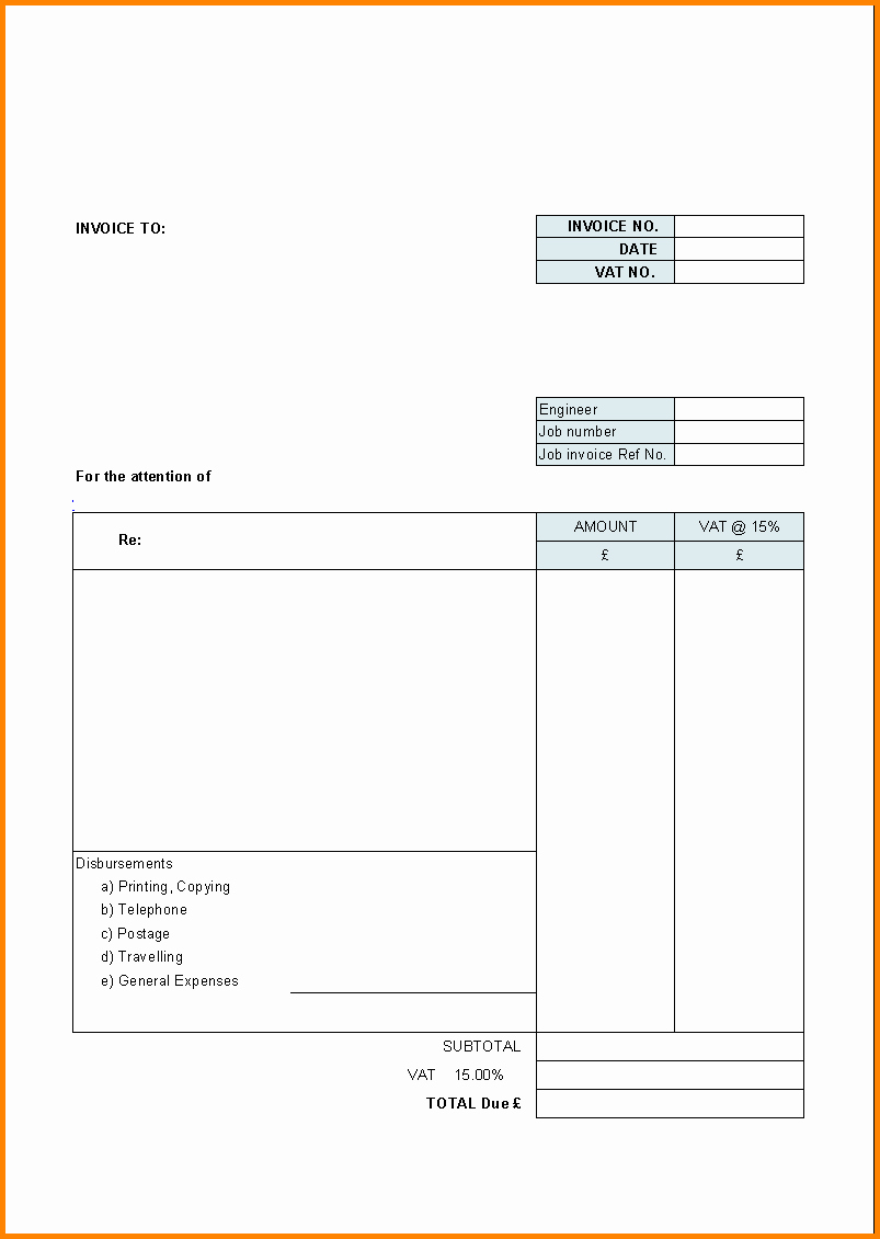 Billing Invoice Template Word Best Of 7 Free Printable Billing Invoice