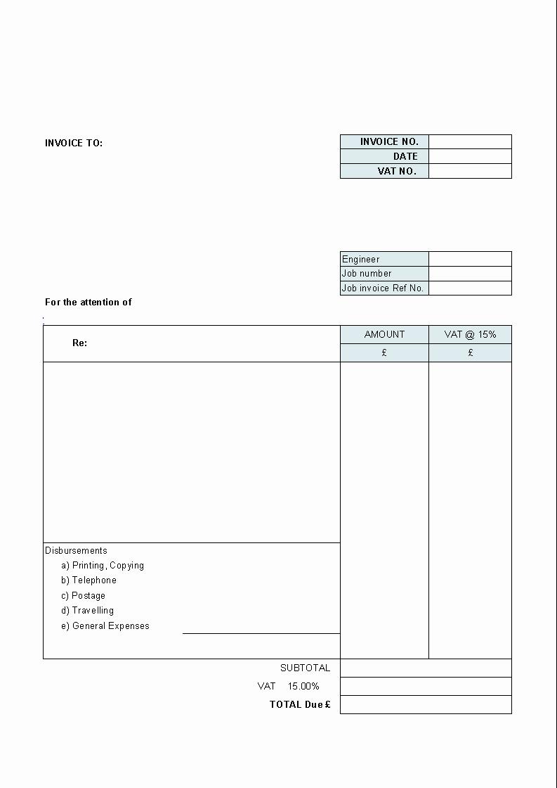 Billing Invoice Template Word Elegant 39 Best Templates Of Service Billing Invoice Examples