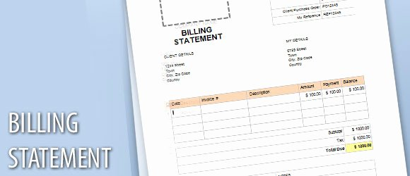 Billing Invoice Template Word Inspirational Billing Statement Template for Word
