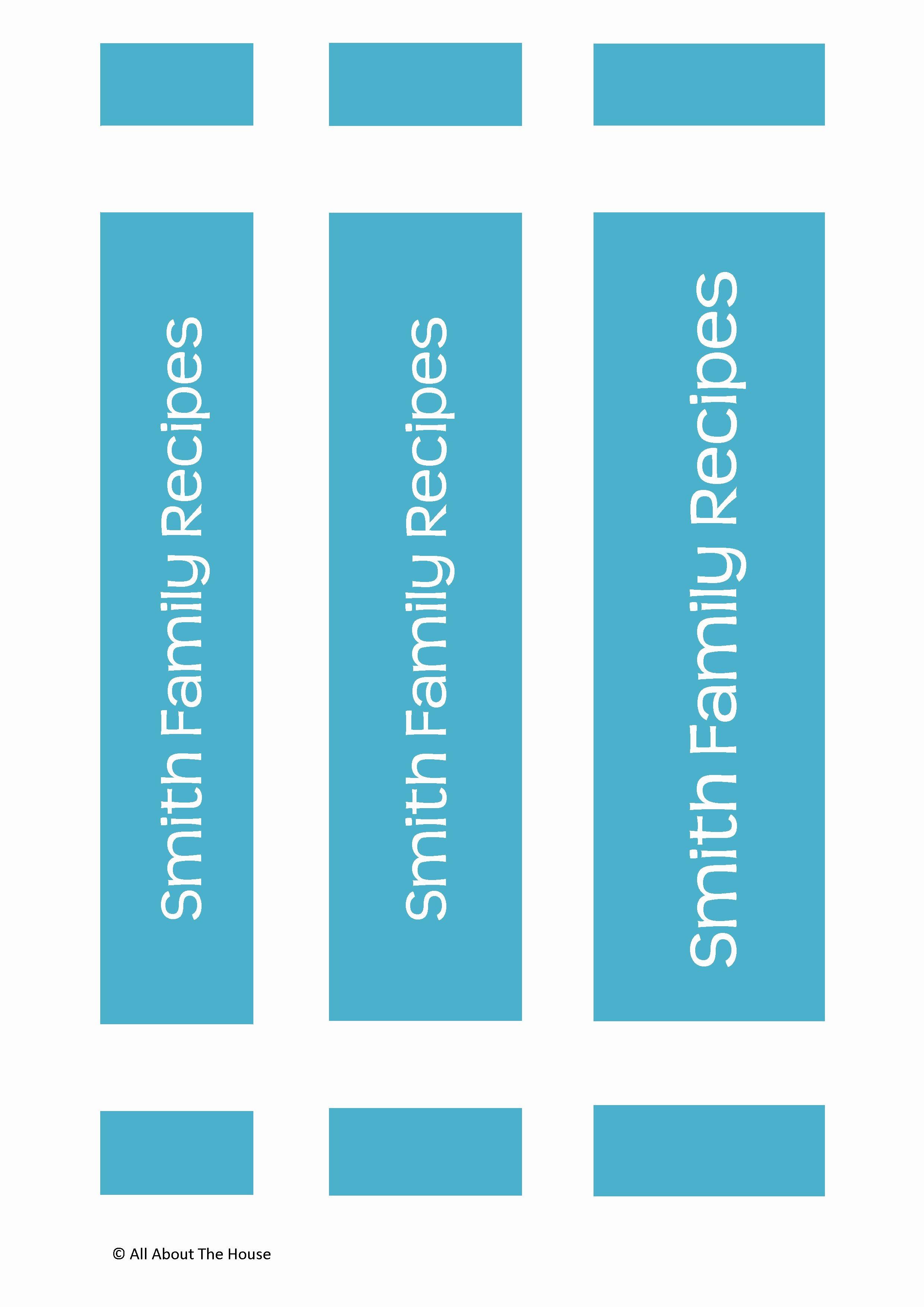 Binder Spine Label Template Fresh Make Your Own Personalised Printable Recipe Binder