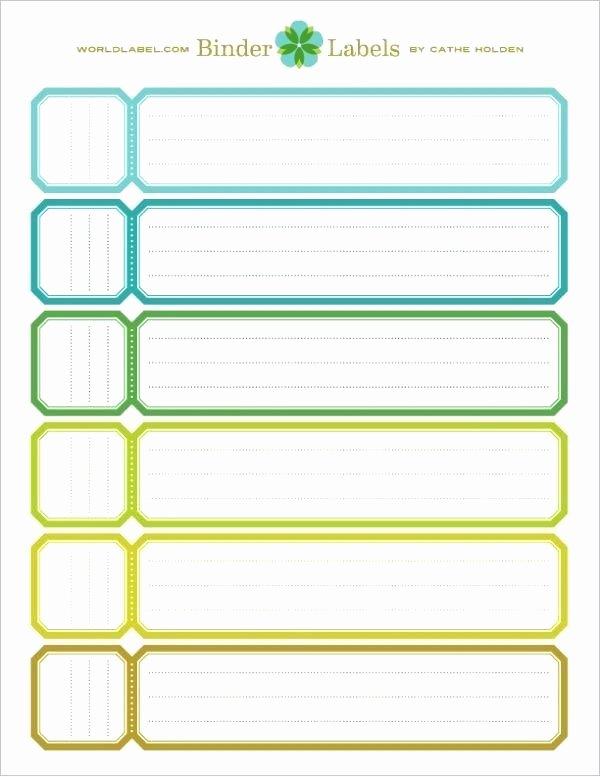 Binder Spine Label Template Inspirational File Folder Label Template Binder – Puntogov