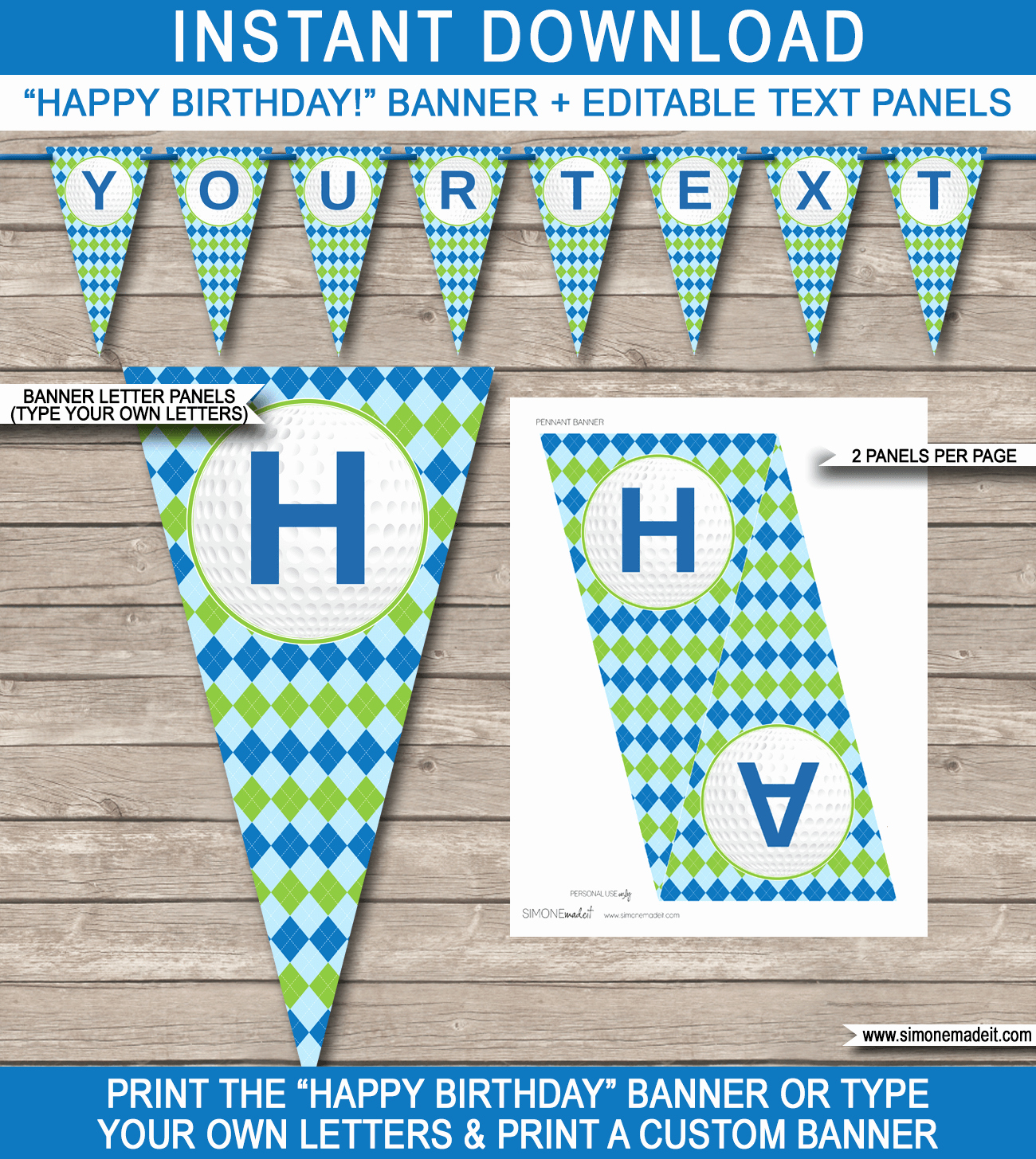 Birthday Banner Template Free Beautiful Golf Party Banner Template