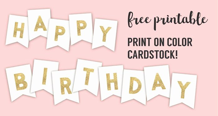 Birthday Banner Template Free Best Of Happy Birthday Banner Printable Template Paper Trail Design