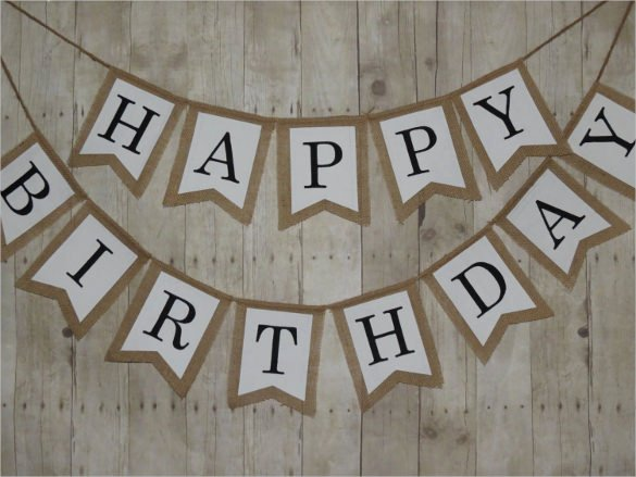 Birthday Banner Template Free Inspirational 23 Pennant Banner Templates Psd Ai Vector Eps