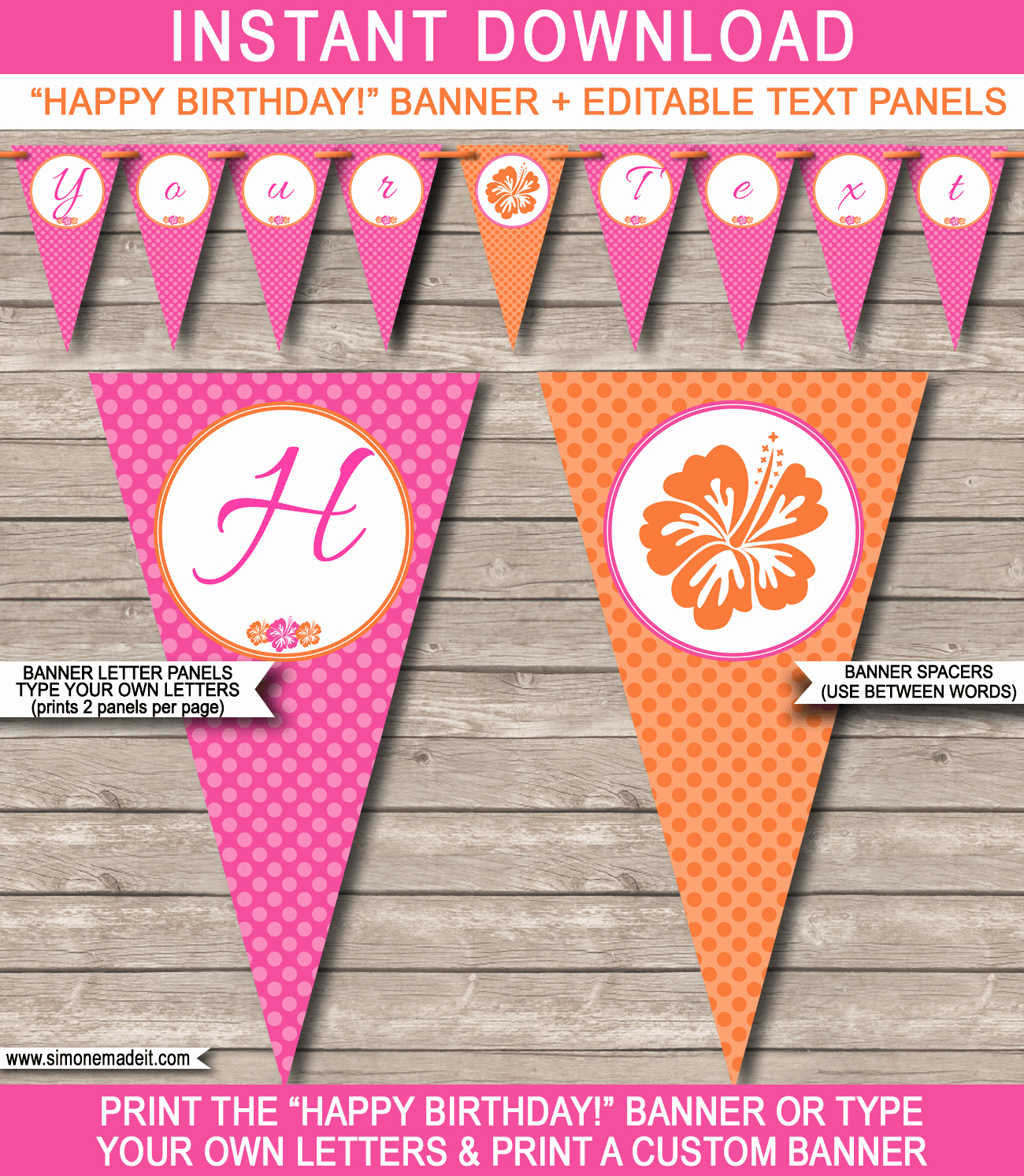 Birthday Banner Template Free Lovely Hawaiian Luau Party Banner Template
