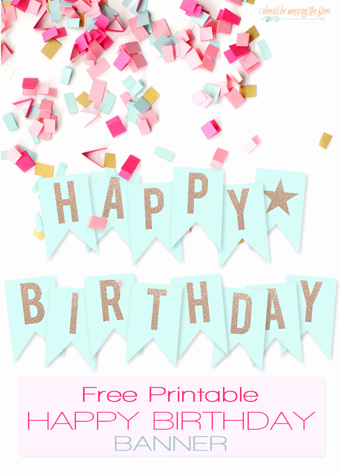 Birthday Banner Template Free Luxury Free Printable Happy Birthday Banner Printables