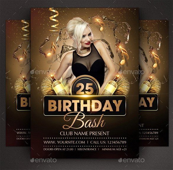 Birthday Bash Flyer Template Awesome 19 Amazing Birthday Party Psd Flyer Templates In Word