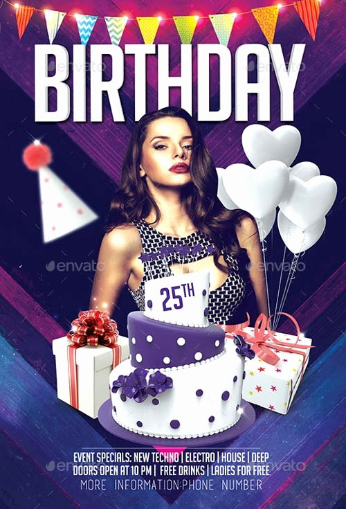 Birthday Bash Flyer Template Awesome Best Of Birthday Flyer Templates Free and Premium Flyer
