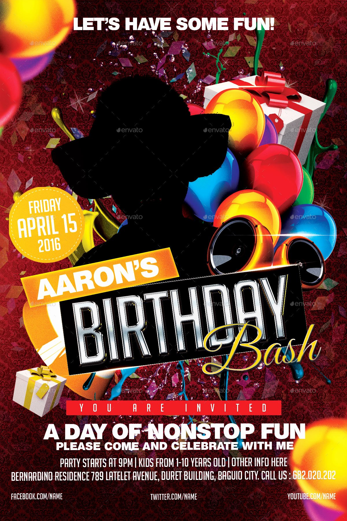 Birthday Bash Flyer Template Awesome Birthday Bash Party Flyer by Mikkool