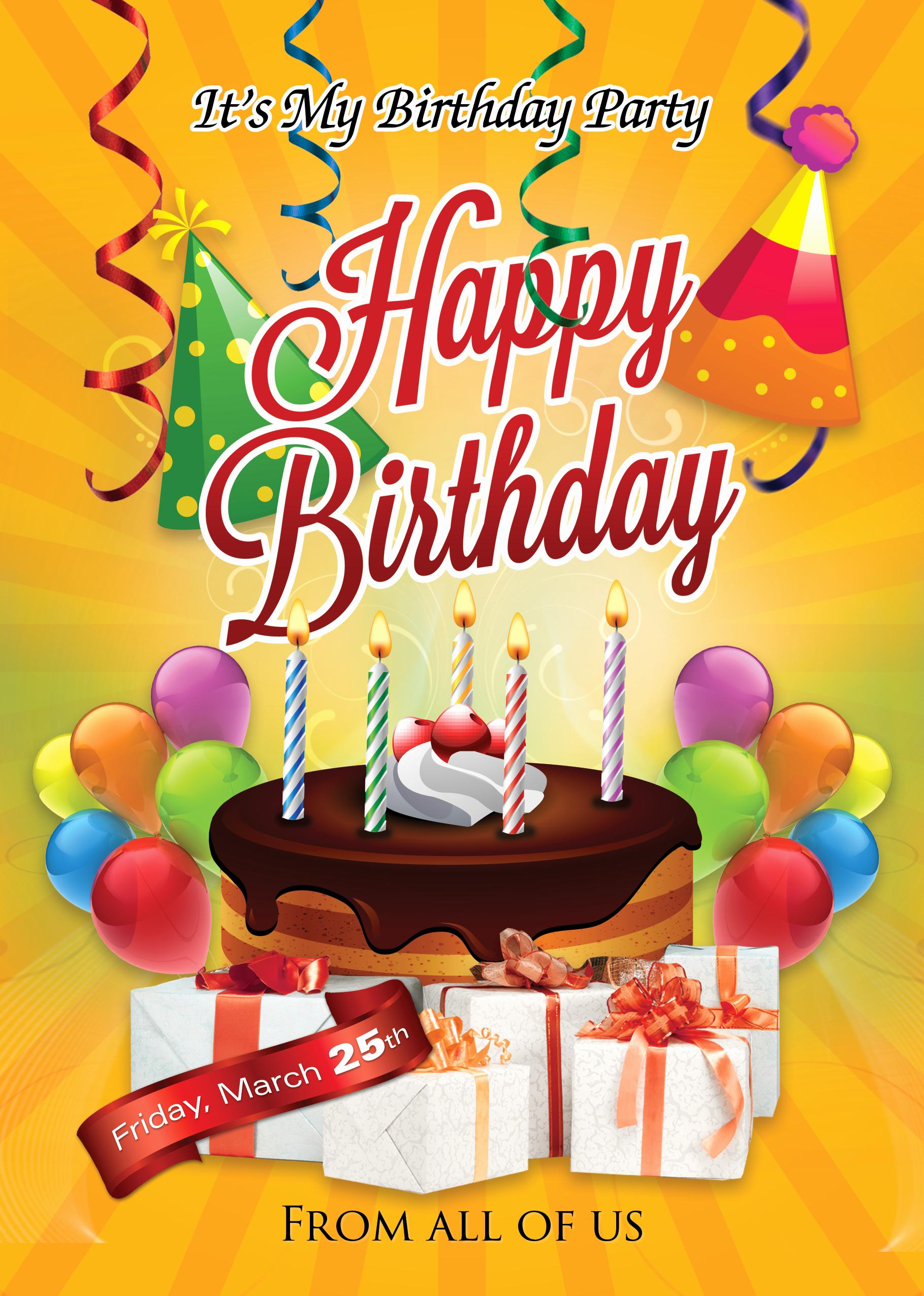 Birthday Bash Flyer Template Beautiful Birthday Flyer Template Shop Cs6 Free Flyer Templates