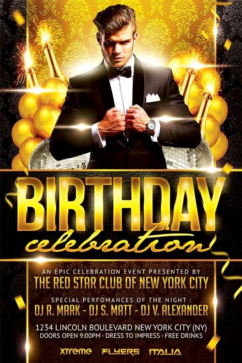 Birthday Bash Flyer Template Best Of Elegant Birthday Party Flyer Template
