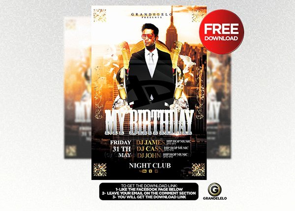 Birthday Bash Flyer Template Fresh 90 Awesome Free Flyer Templates Psd