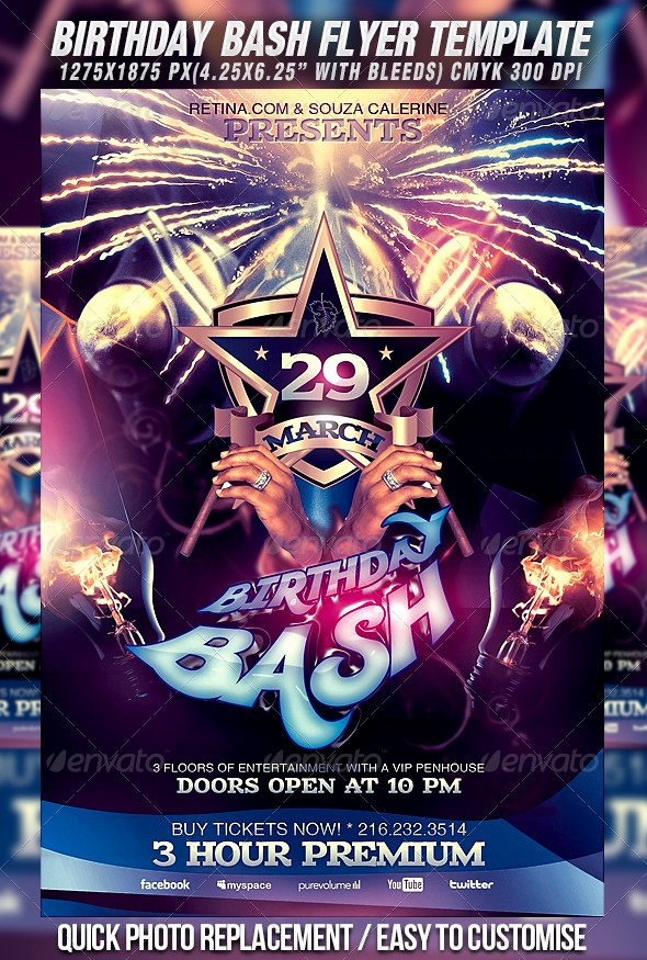 Birthday Bash Flyer Template Fresh Birthday Bash Flyer Template by Mexelina