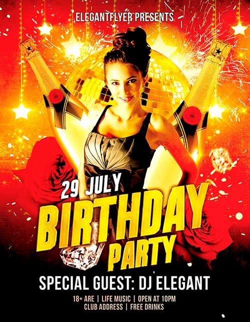 Birthday Bash Flyer Template Fresh Download Free Birthday Party Psd Flyer Template