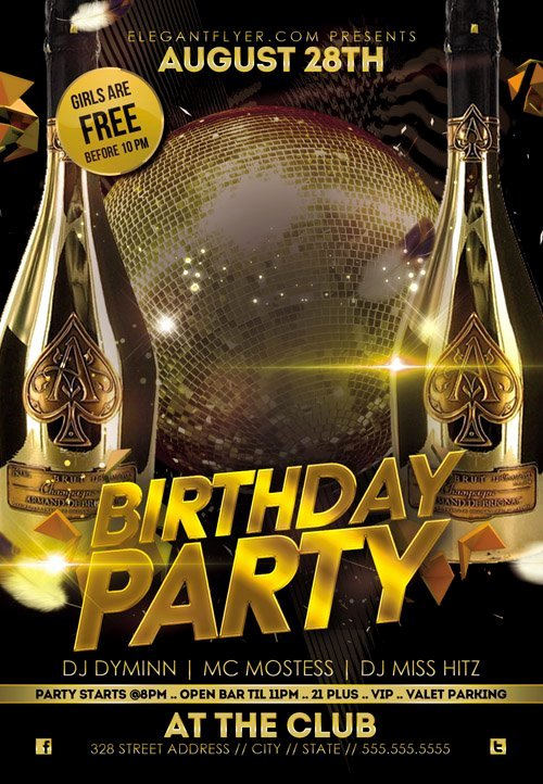 Birthday Bash Flyer Template Fresh Flyer Psd Template Birthday Party Cover